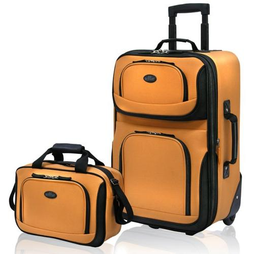 U.S. Expandable Luggage Mustard, 1 ea