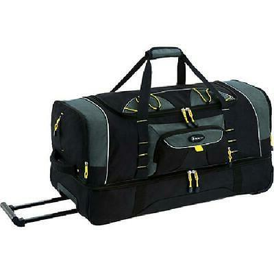 rolling wheeled duffle bag travel tote carry