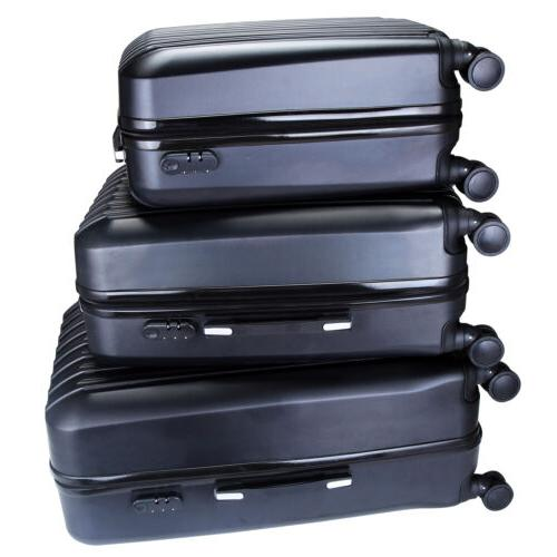 "Set Luggage Set Trolley Spinner Suitcase w/Lock 20"" 24"""