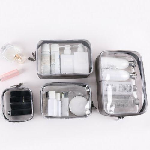 4pcs make up bags set travel toiletry