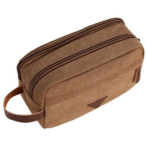 toiletry bag canvas leather shaving