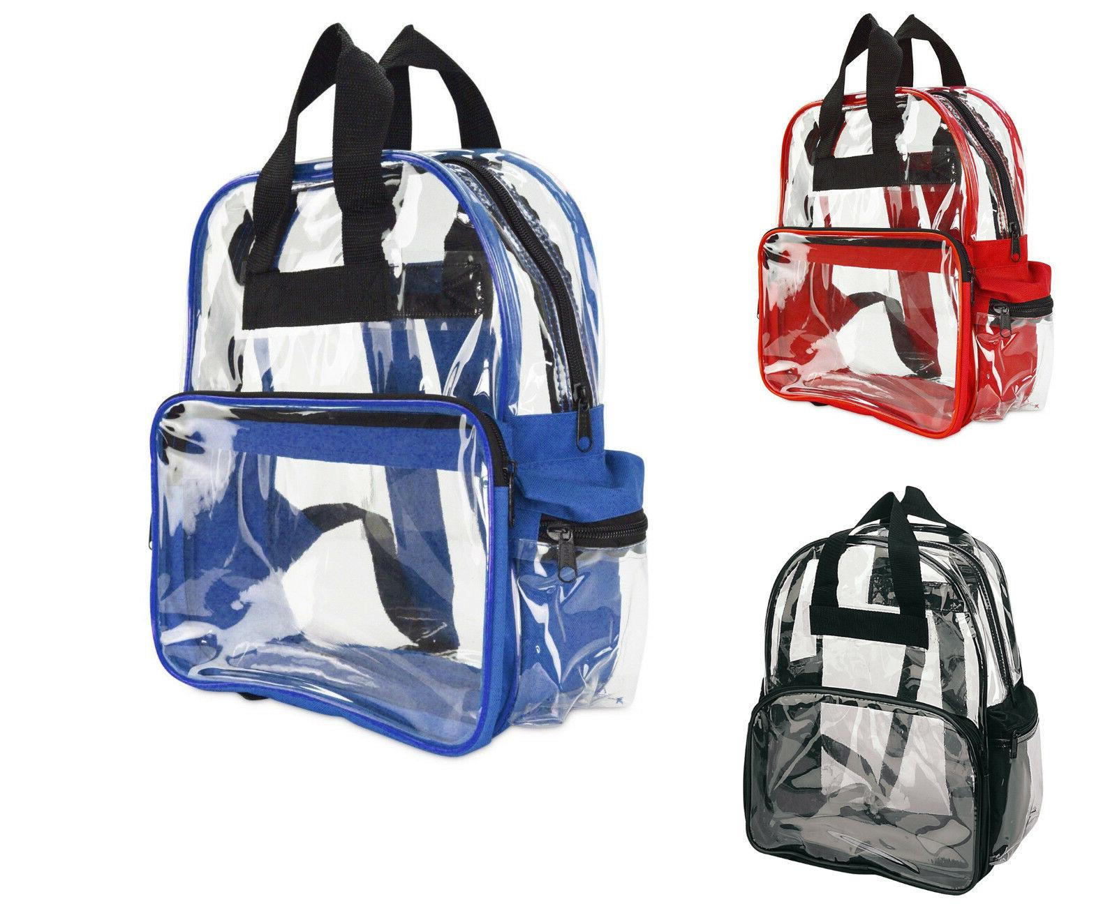 travel bag unisex transparent school security clear