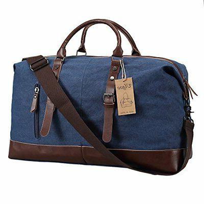Ulgoo Canvas Weekend Bag Blue