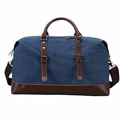 Ulgoo Travel Duffel Canvas PU Blue