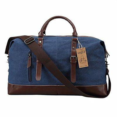 Ulgoo Duffel Canvas Weekend Bag Deep Blue
