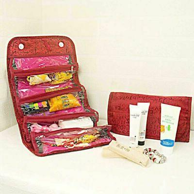 Travel Roll-up Make-up Case Pouch Hanging Bag