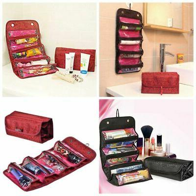 travel roll up cosmetic make up case