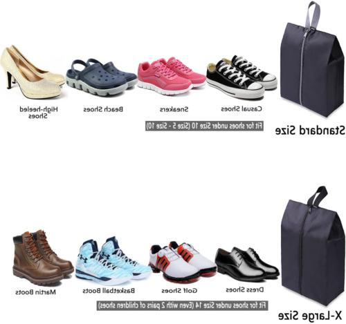 Travel Shoe Bags Of 4 With For &