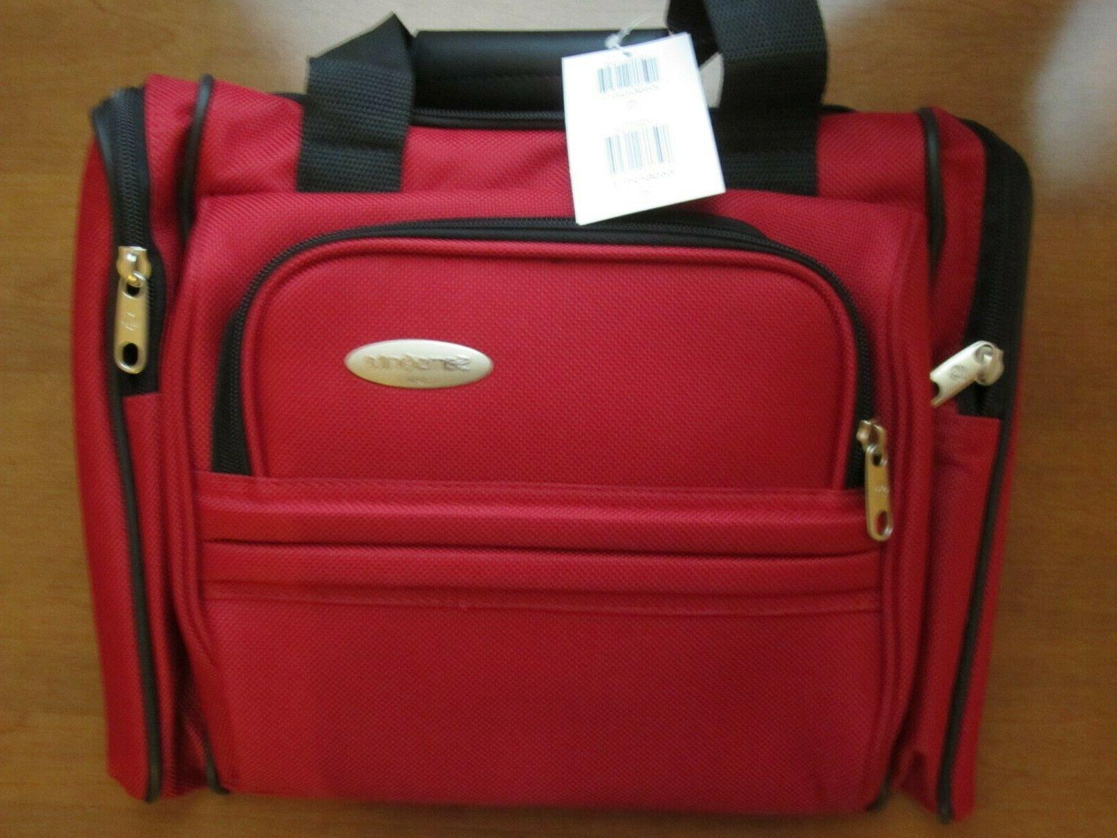 travel tote bag straps red new