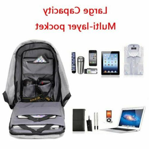 Unisex Anti-Theft Travel Bag With USB Charging