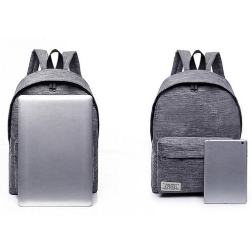 US Canvas Backpack Book Travel