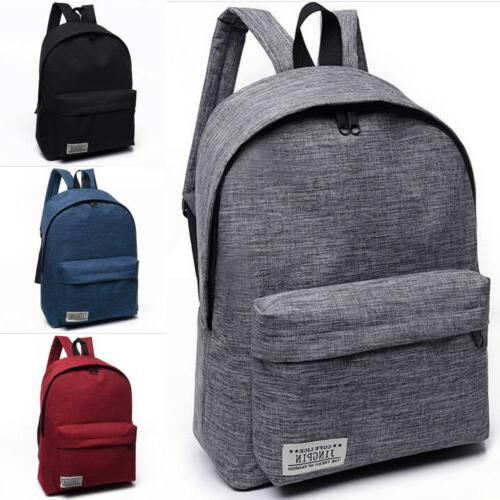 us women men shoulder canvas backpack rucksack