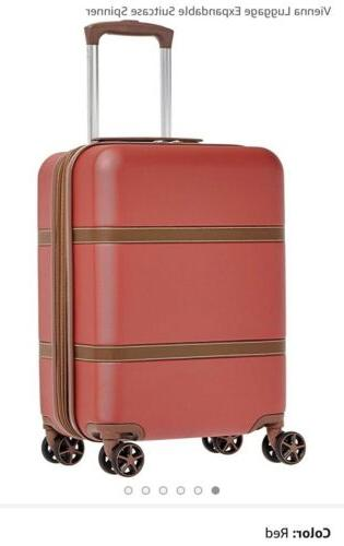 vienna luggage expandable suitcase spinner 20 inch