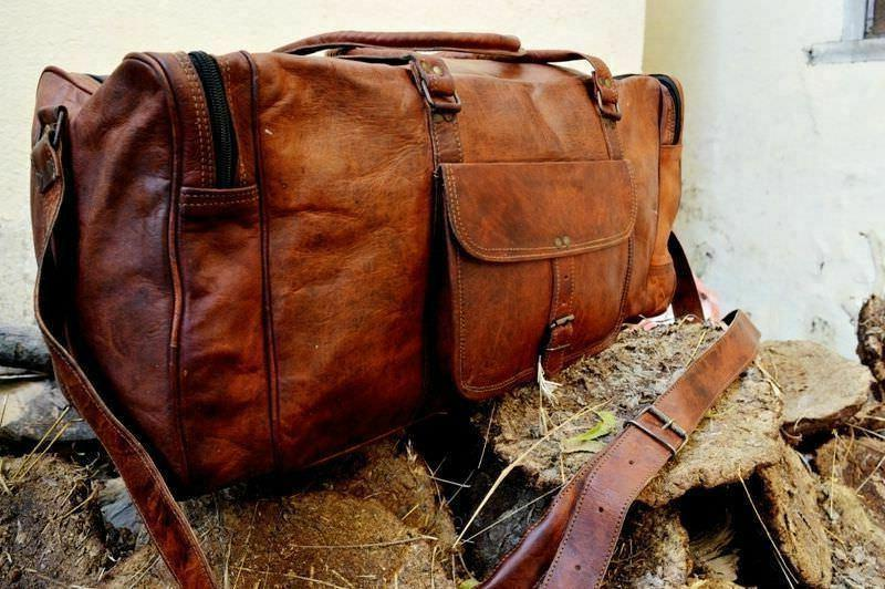 Vintage Duffel Travel Genuine Weekend