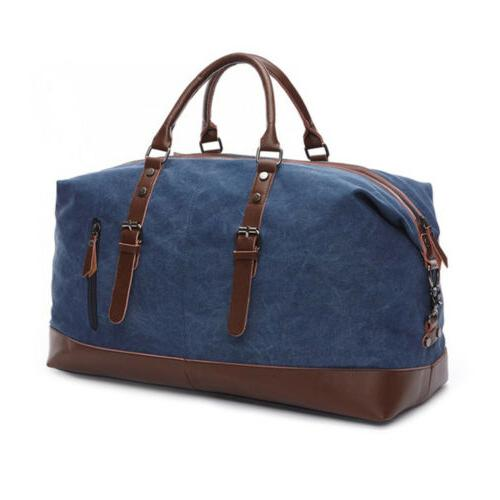 Men's Canvas Leather Shoulder Handbag