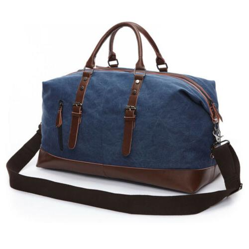 Men's Leather Travel Duffle