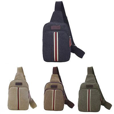Vintage Mens Military Canvas Rucksack Satchel Shoulder Bag M