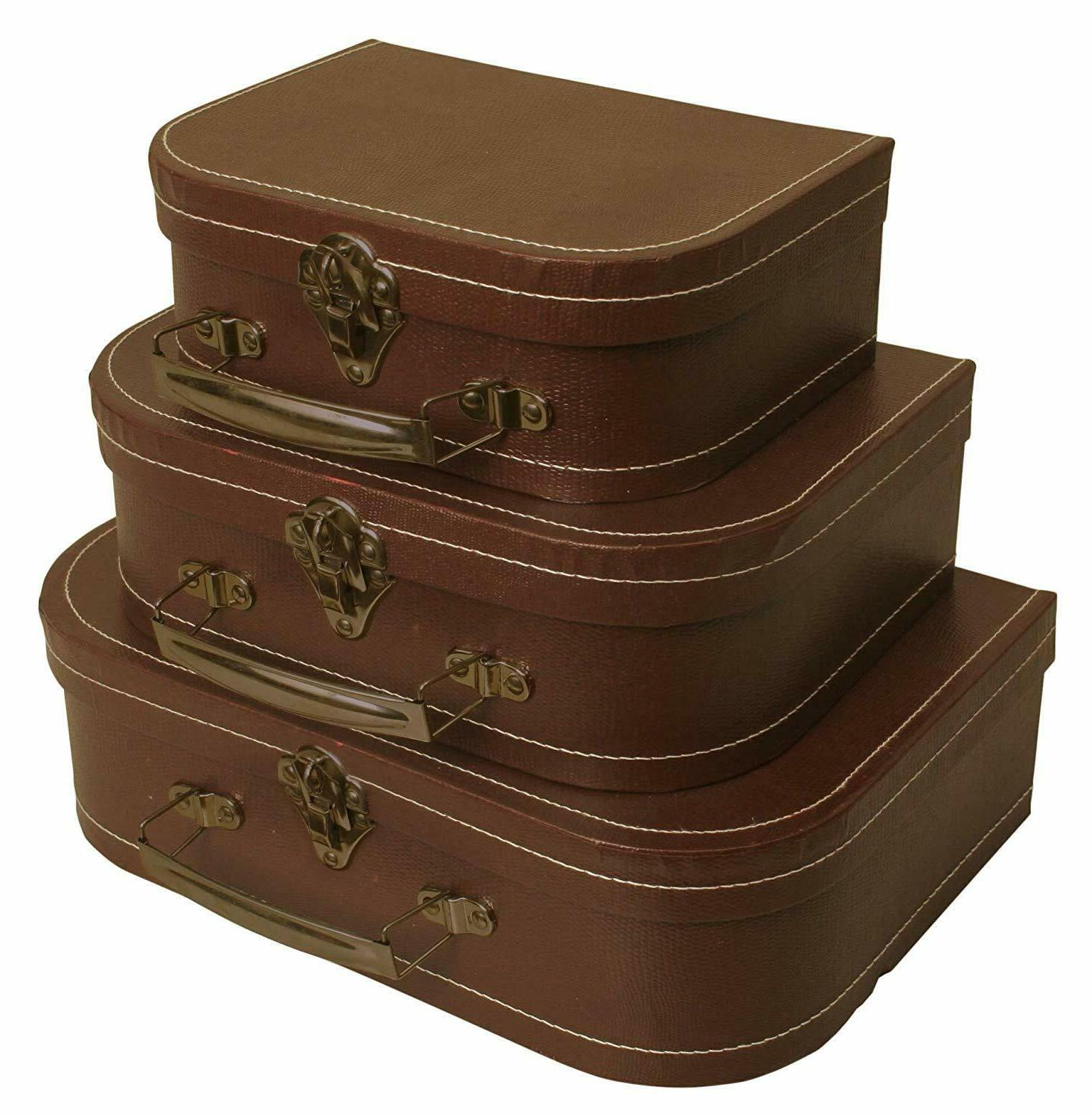Wald Imports Brown Paperboard Decorative Storage Paperboard