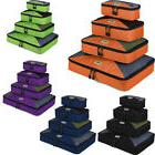 4pcs Waterproof Travel Storage Bag Clothes Packing Cube Lugg