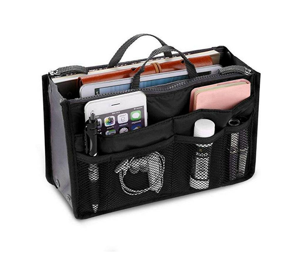women travel insert handbag organizer purse large