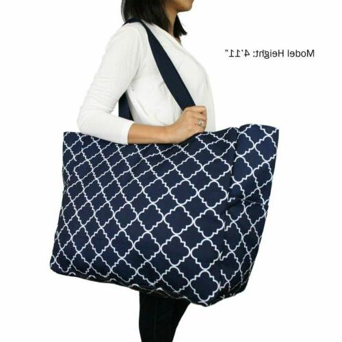XL Water Travel Weekender Tote Bag with Pockets