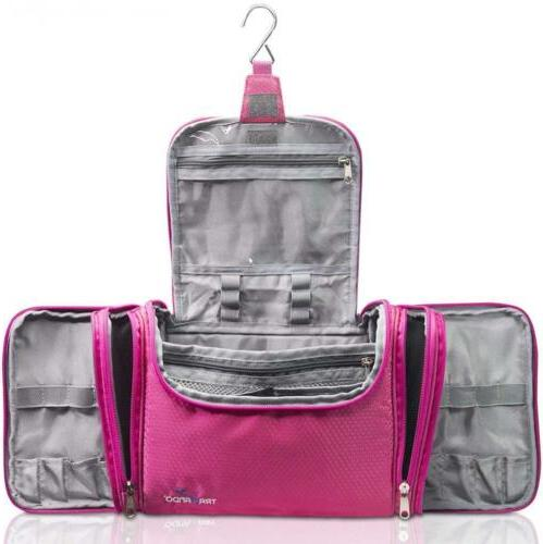 xxl toiletry cosmetics bag with hanging hook