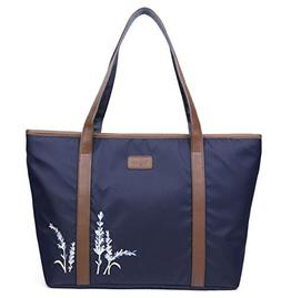 Ulgoo Large Carry on Tote Bag Embroidered Oxford Duffel Wome