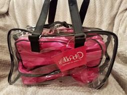 Caboodles Le Sophisticate 10 Piece Clear Travel Bag Black/ho