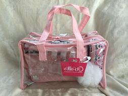 Caboodles Le Sophistique 10 Pc. Bag Set Pink and clear Combo