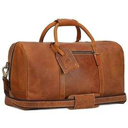 Leather Travel Duffel Bag - Airplane Underseat Carry On Bags