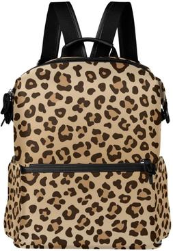 ALAZA Leopard Print Casual Backpack Lightweight Travel Daypa