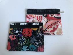 LeSportsac COSMETIC POUCH TRAVEL BAG Lot Of 2