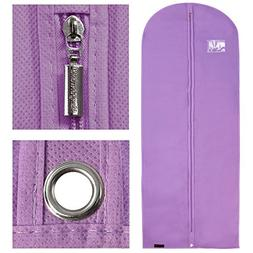 "Hangerworld Lilac Breathable 60"" Suit or Dress Garment Bag -"