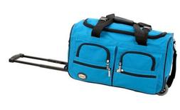 Rockland Luggage 22 inch Rolling Duffle Bag, Turquoise, Medi