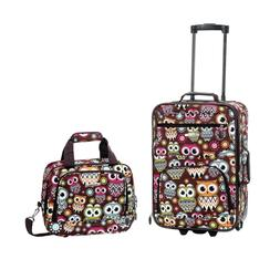 Luggage Set 2 Piece Trolley Travel Suitcase Rolling Skate wh