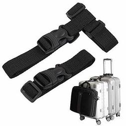 Luggage Straps,Two Add a Bag Suitcase Strap Belt,Adjustable