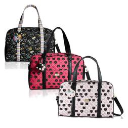 Luv Betsey Johnson Cruisn Large Cotton Carry On Weekender Tr