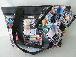 LeSportsac Medium Travel Tote bag, w Pouch, LePatch, New   $