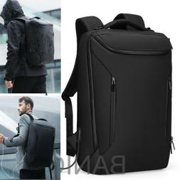 Men Anti-Thief Waterproof 15.6 Laptop USB Backpack Travel Sc
