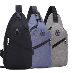 Men Chest Pack Messenger Bags Casual Travel Crossbody Should