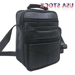 men s leather messenger bag crossbody shoulder