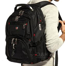 "Men's Travel 15"" Laptop Backpack Shoulder Bag Swiss Hiking S"