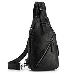 Stuo Men's Sling Chest Shoulder Bag Crossbody Purse Water Re