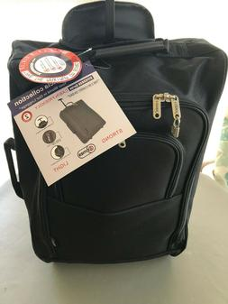 "5 Cities NEW 21"" 55cm Black Carry On Luggage Cabin Approved"
