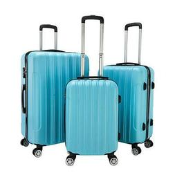 new 3pcs luggage travel set bag abs