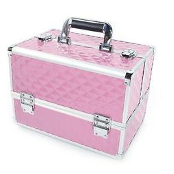 New ABS Makeup Train Case Travel Organizer Lockable Cosmetic