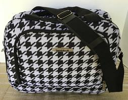 NEW~ROCKLAND~BLACK/WHITE CARRY-ON OVER NITE TRAVEL BAG 12""