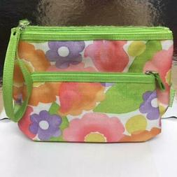 New Clinique Cosmetic Bag Travel Case Pouch  Zip Top Waterco