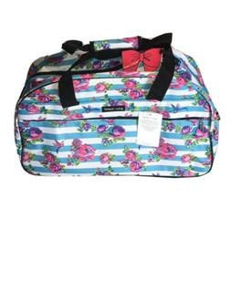 New Betsey Johnson Stripe and Floral Travel Bag