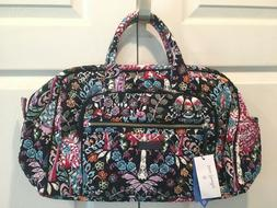NWT Vera Bradley Iconic Compact Weekender Fox Forest NEW Tra
